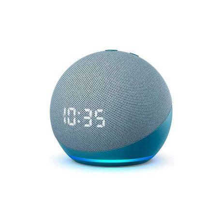 AMAZON ECHO DOT 4 - Com Relógio - Azul - Alexa - Coluna inteligente