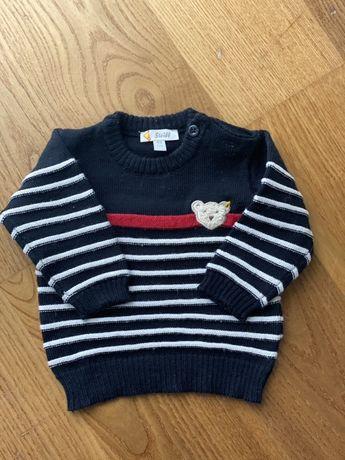 Granatowy sweter Steiff rozmiar 62