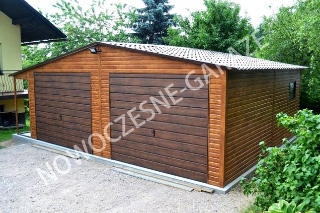Garaż blaszany! Blacha imitująca drewno drewnopodobna PROFIL ZAMKNIĘTY