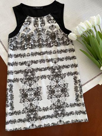 Czarna, biała Sukienka  we wzory XS