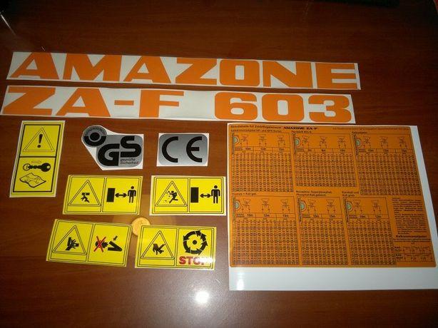 Naklejki na rozsiewacz AMAZONE ZA-F 603 zestaw.