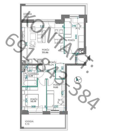 Nowe mieszkanie pod KLUCZ 4 pokoje 69,39m2 QUATRO ZATORZE WIDOK