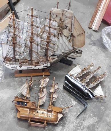 Модели макеты корабля парусники 8 штук