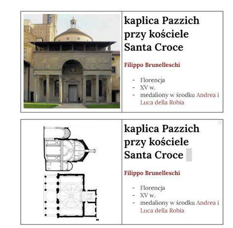 historia sztuki notatki/fiszki z architektury