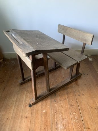 Mesa de escola vintage antiga