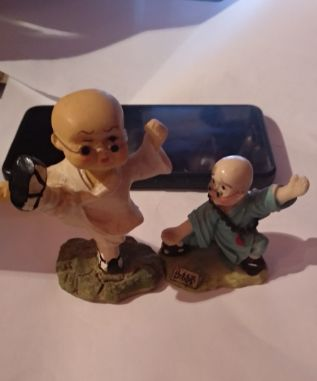 подарок статуэтка фигурка нинзя каратист пара Япония сувенир керамика