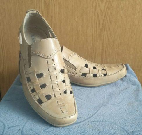Літні туфлі чоловічі шкіряні 40 р