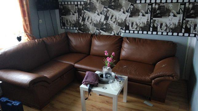 Narożnik z funkcją spania kanapa sofa