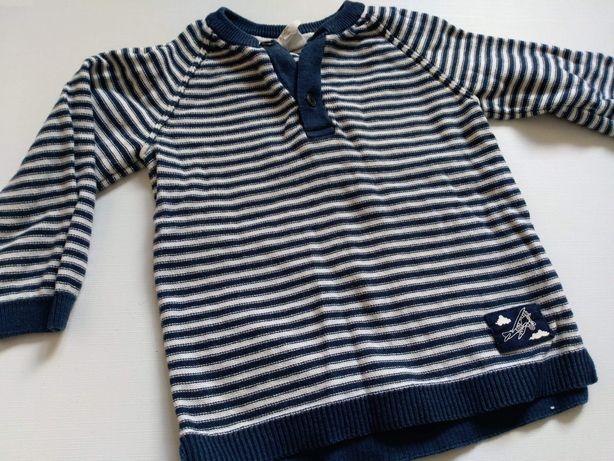 Chłopięcy sweterek z H&M 74r