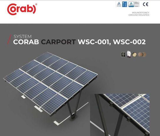 Zestaw CARPORT CORAB (26 kWp) + ładowarka PlugBox (7,2 kW) PROMOCJA