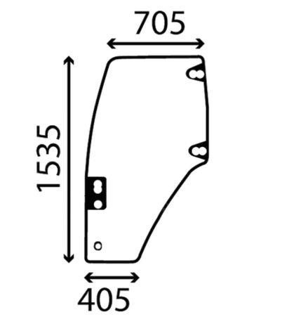 Szyba drzwi lewe CASE NEW HOLLAND FIAT 8203.6001