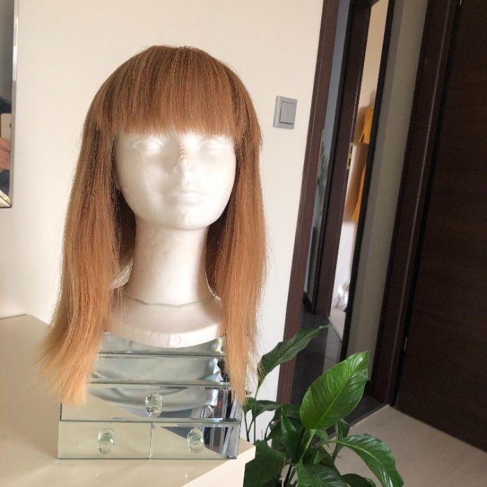peruka z naturalnych włosów, kolor beżowy blond, długość do ramion Zielona Góra - image 1