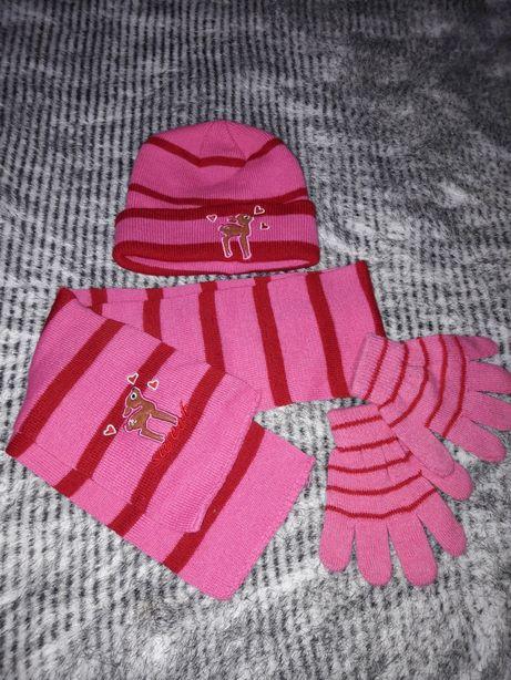 Комплект шапка шарф перчатки 2 годика