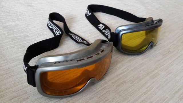 ASPEN Gogle narciarskie pomarańczowe i żółte