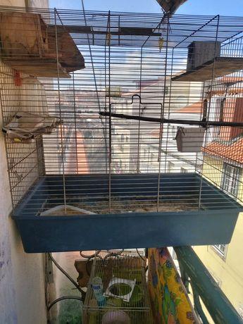 Vendo gaiola usada em bom estado c/77c. cumprido altura 74cm.largar 43