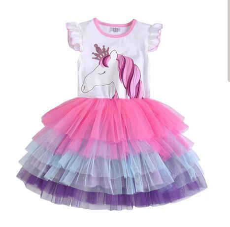 Sukienka konik unicorn jednorożec tutu 92,98,104,110,116,122,128,134