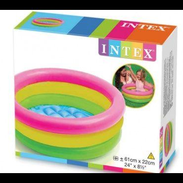 Детский надувной бассейн Intex 57107 «Радуга», 61 х 22 см