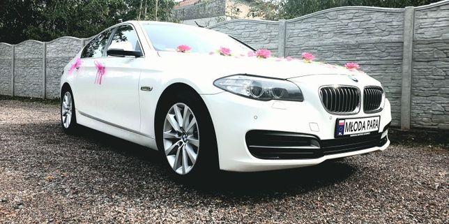 Samochód do ślubu BMW 5 F10 Alpine White Limuzyna śląsk