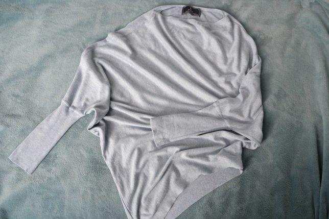 Błękitny asymetryczny sweterek Medicine S