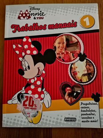 Caderno trabalhos manuais Disney.