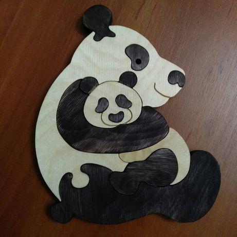 "Игрушка- пазл "" Панда с детенышем"""
