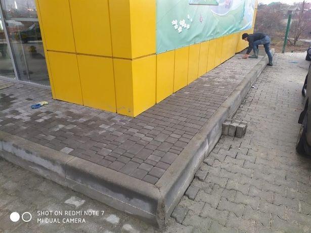 Укладка плитки тротуарной! В Одессе и области.