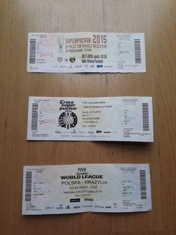 Bilety archiwalne, siatkarskie, piłkarskie