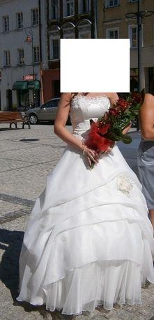 Suknia ślubna na wysoką Pannę Młodą :)