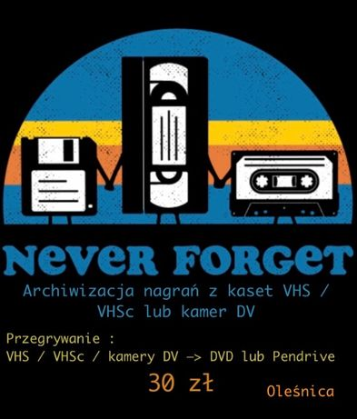 Archiwizacja / Przegrywanie nagrań VHS na postać cyfrową.