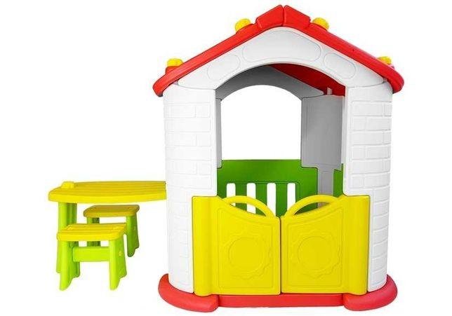 Zestaw ogrodowy Domek Stolik Krzesła