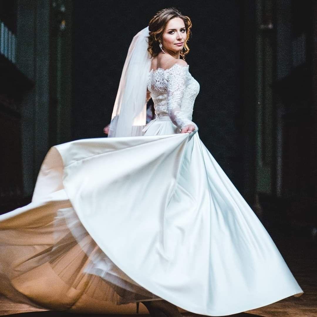 Свадебное платье, после химчистки, атлас, айвори, Одесса