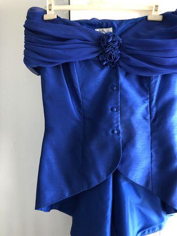 Conjunto cerimónia azul