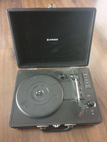 Gramofon / Adapter Hykker Vintage Sound Czarny + zasilacz