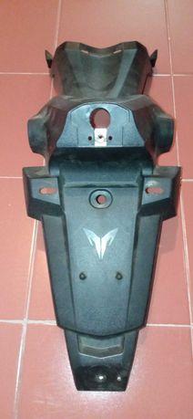 Suporte de matrícula original de moto sym wolf 125
