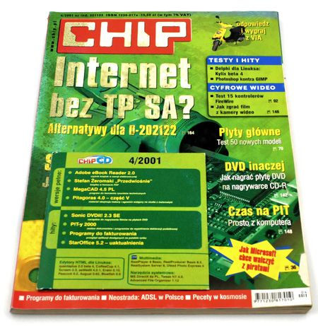 CHIP 4/2001 + CD - czasopismo