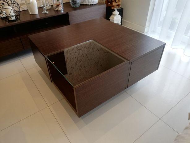 stolik kawowy z szufladami