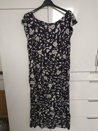 Sprzedam sukienkę h&m mama granatowa w kwiaty, lekka, zwiewna, rozm. L