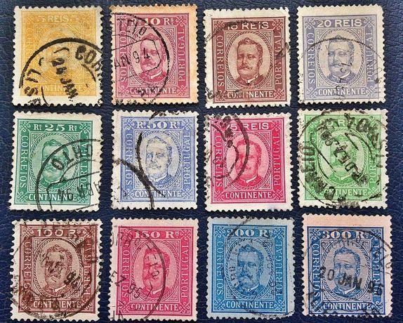 Séries Completas - Selos Monarquia - D. Carlos I e D. Manuel II
