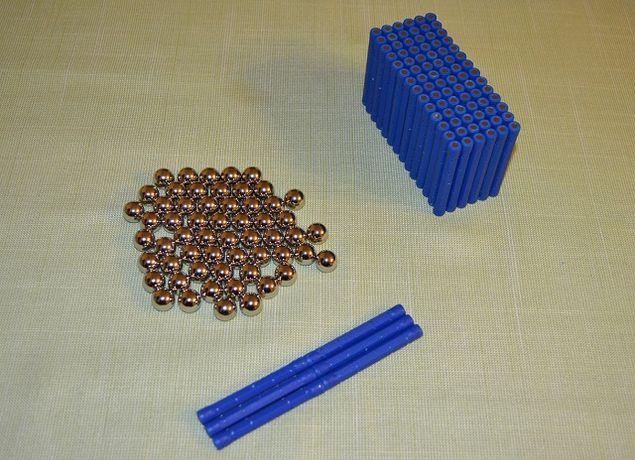 Zabawki magnetyczne klocmi magnetyczne Kids Kolor 150EL hit