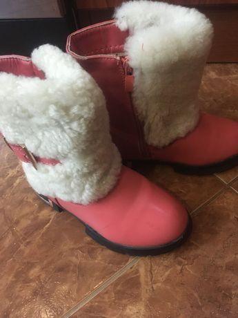 Черевики зимові, дитячі, рожеві