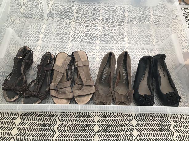 Sandálias e Sapatos de cunha