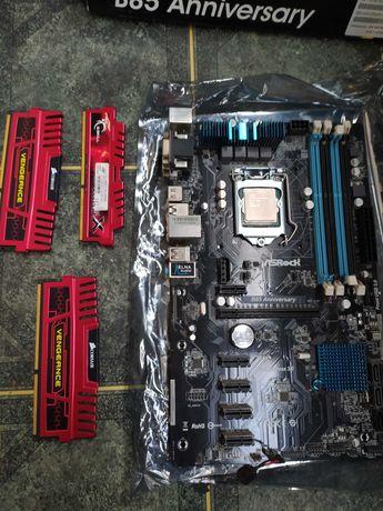 Комплект Inter core I5-4670k + материнская плата + 16 Gb DDR3