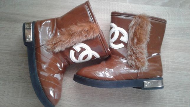 Chanel сапоги полусапожки зима еврозима демисезон 33р