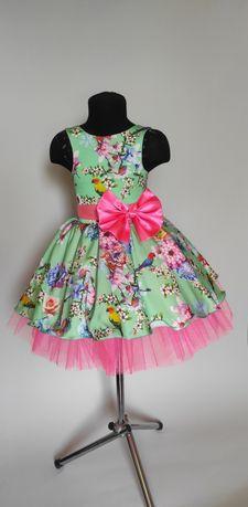 Цветочное платье. Детское ретро платье. Стиляги. Выпускное платье