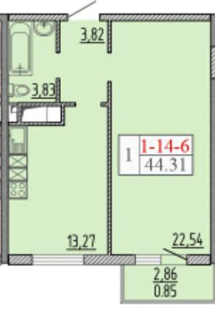 Продам 1 комнатную квартиру в 58 Жемчужине с балконом!