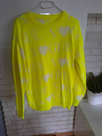 Nowy neonowy sweter Vogue 38/40