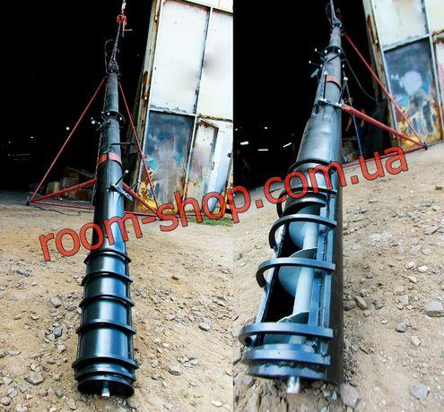Шнековый транспортер, погрузчик, шнек, зернопогрузчик, диаметр 133 мм