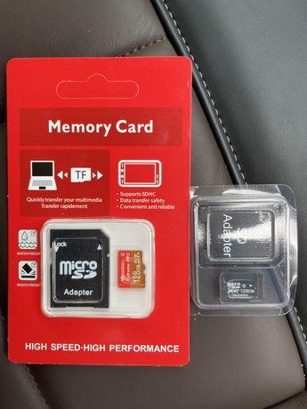 Флеш microSD 128 Gb 4шт