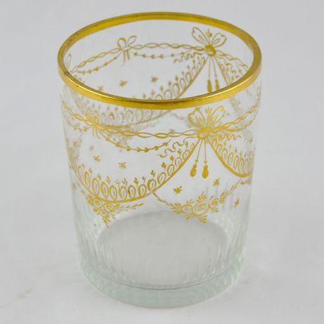 Copo em vidro com Dourados, séc. XIX