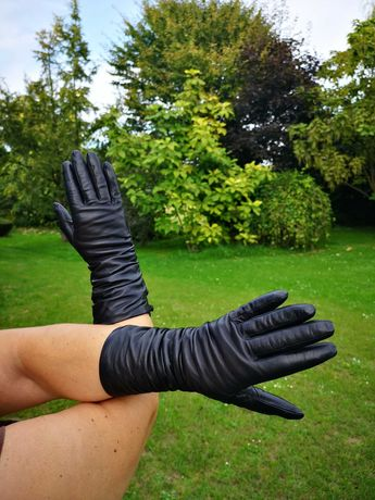 Rękawiczki skórzane Valentino